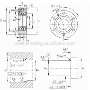 NSK 555TFX01 THRUST BEARINGS For Adjusting Screws