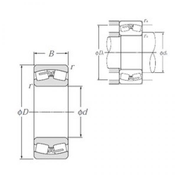 280 mm x 500 mm x 130 mm  NTN 22256B Spherical Roller Bearings #3 image